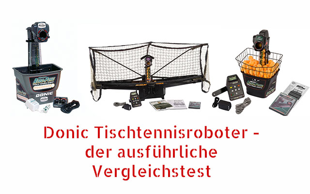 Donic Roboter Vergleich
